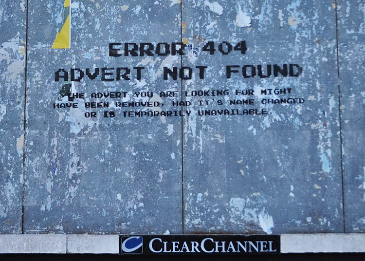 404 advert not found (flickr user: id iom, cc-by-nc)