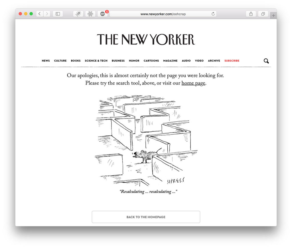 404 hos The New Yorker
