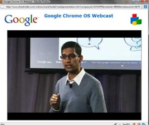 Chrome OS idag presenterat av Google