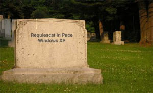 Rest in Peace Windows XP - Vila i frid. Photo cred mandilee at sxc.hu