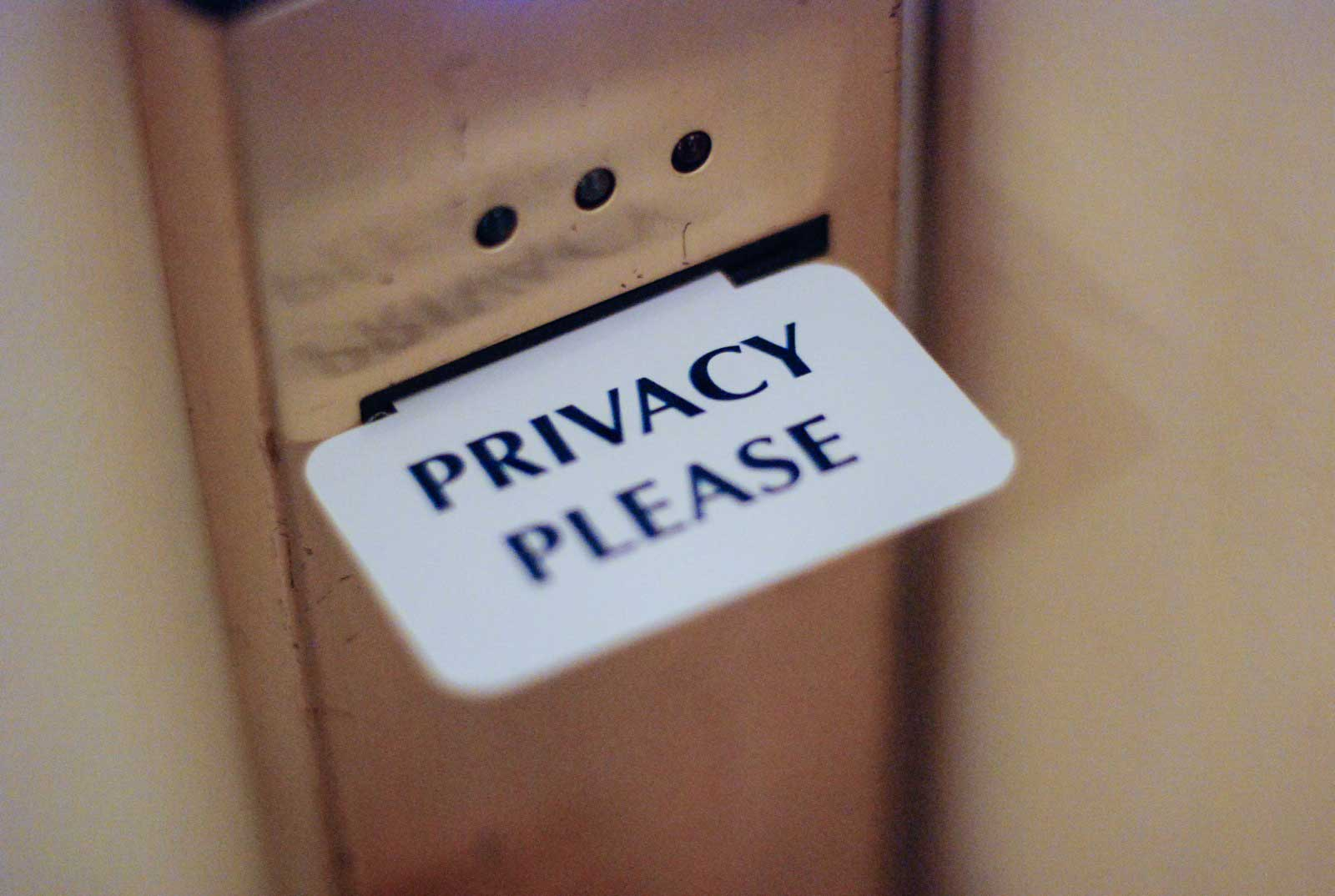 Privacy please (photo credit: Josh Hallett, cc-by)