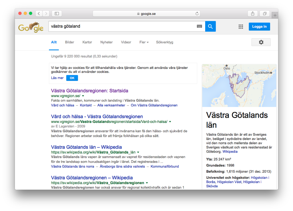 Knowledge graph hos Google