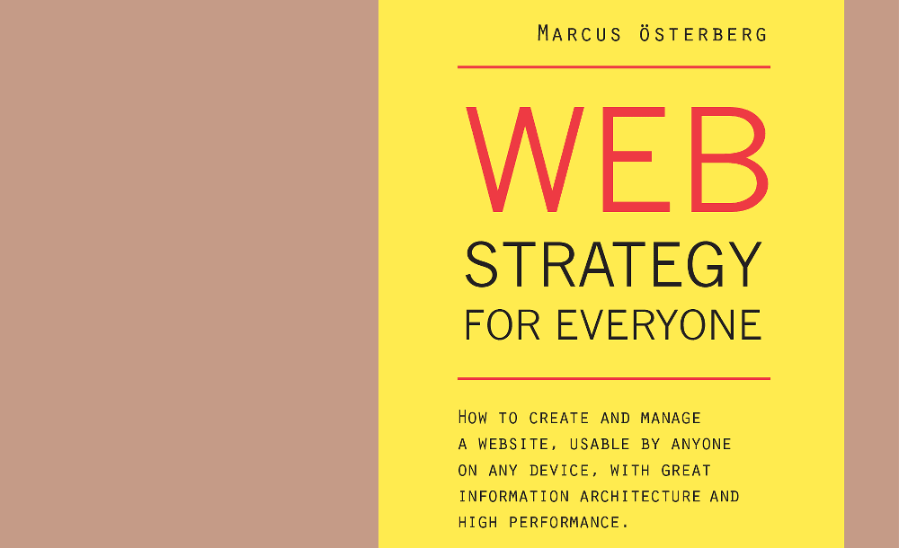 Vill du recensera boken Web Strategy for Everyone?