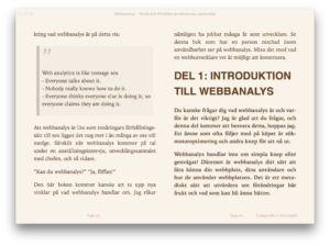Webbanalys-boken i Apple iBooks