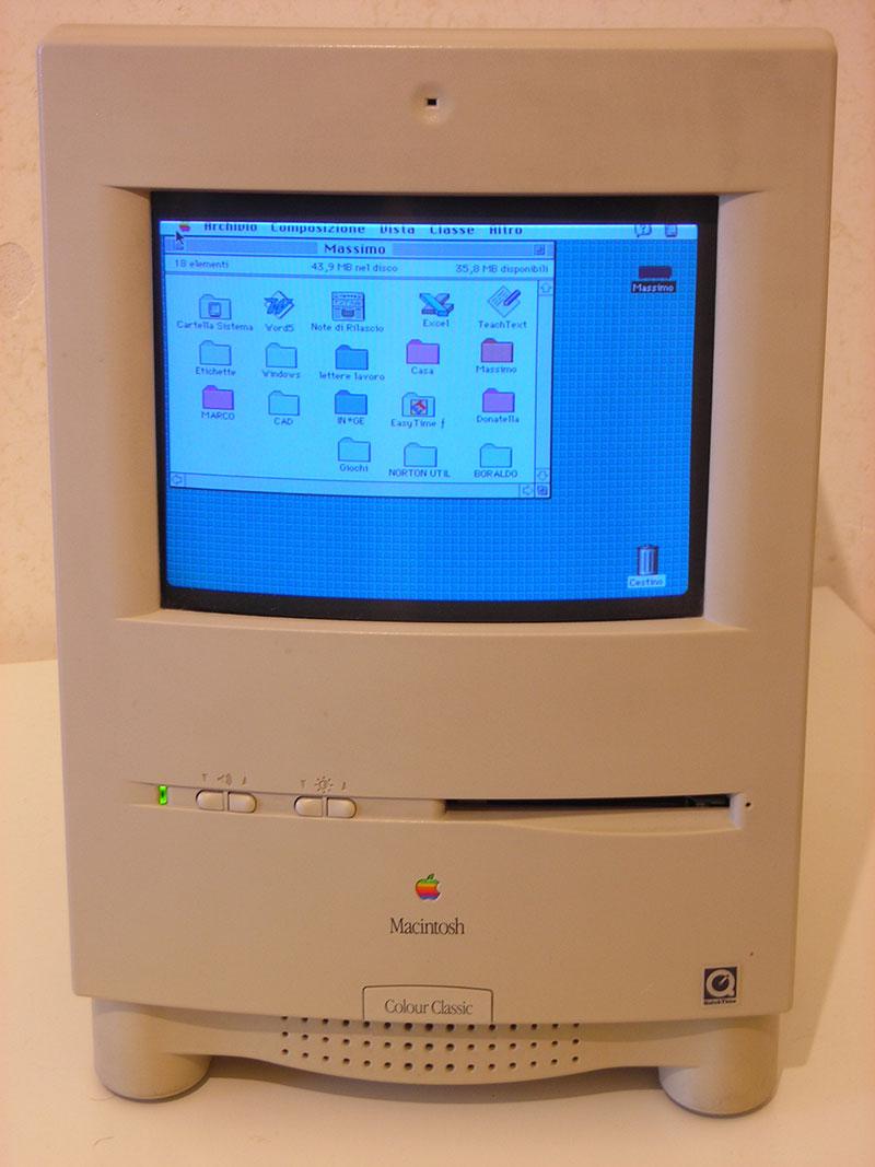 Bild 36: Så här såg en dator ut när webben föddes. Skärmar stora som surfplattor men väldigt mycket sämre upplösning.