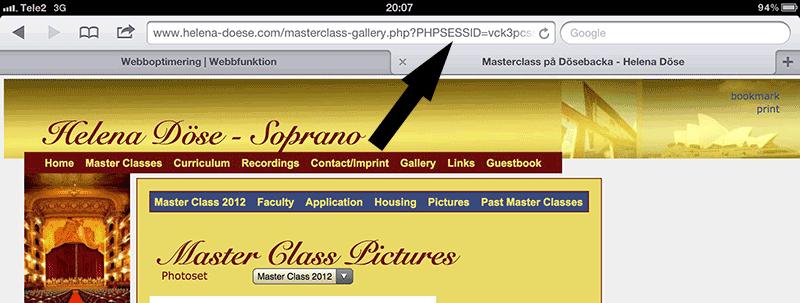 """Bild 95: Tillfälliga saker som """"phpsession"""" har inget i en adress att göra."""